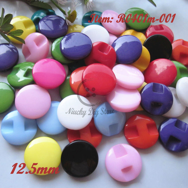 144pcs 12.5mm mixed colour / one color resin buttons shirt / children sewing accessories Dark eye loose buttons wholesale(China (Mainland))