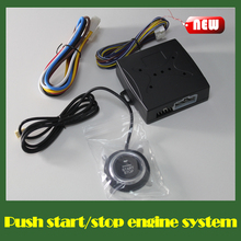 Hot sale START STOP Engine system motorcycle push button keyless entry car alarm security system remote engine start button(China (Mainland))