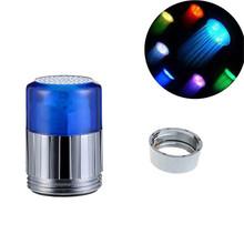 On Sale 350pcs/lot Water Temperature Sensor LED Faucet Light 3 Color Kitchen Bath Water Tap Aerator Light RGB Glow Nozzle(China (Mainland))