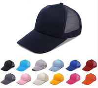16 colors selection Net cap mesh baseball hat summer men and women  caps
