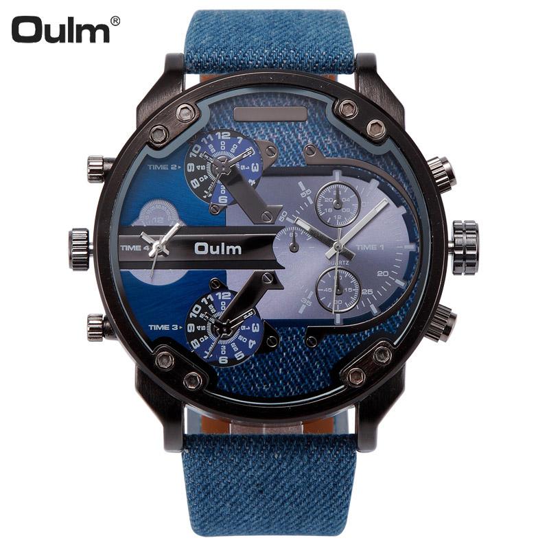 2016 OULM Military Watch Men Fashion Sports watch Multiple Time Zone Analog Quartz Watches Big Dial Wristwatch Relogio Masculino<br><br>Aliexpress