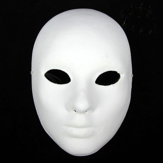 Hand Painting DIY Plain White Masks Women Thicken Paper Pulp Full Face Mask for Christmas Wedding Birthday Decorate 10pcs/lot