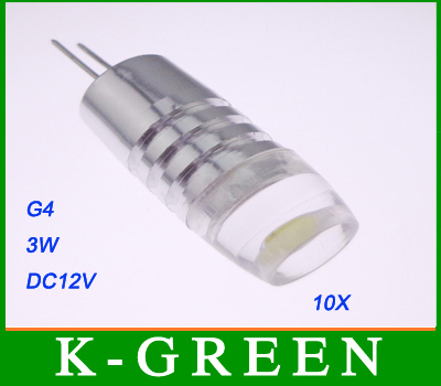 hot sales 10PCS/Lot super bright 280dgree 3W G4 LED lamp 12V led car light free shipping(China (Mainland))