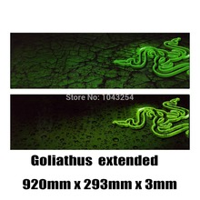 Razer mouse pad Goliathus 2013 extended Goliathus 2013 Control Speed Mouse Pad  Mat large 920*293*3(China (Mainland))