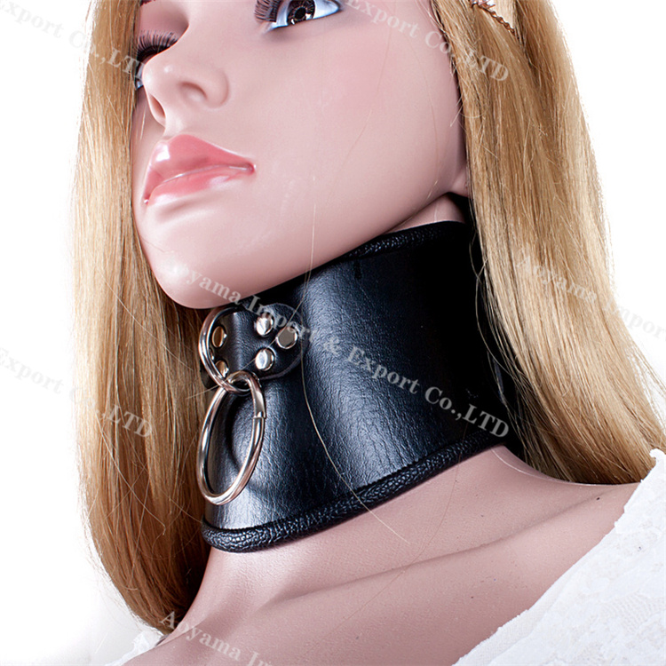 PU Leather Bdsm Collar Bondage Restraint Sex Toys Slave Adult Game Neck Ring Sex Products For