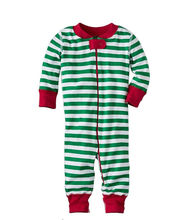 Christmas Baby Boys Girls Classic Stripe Cotton Romper Sleepwear Pajamas Clothes 2016 Xmas Unisex Baby Nightwear kigurumis(China)