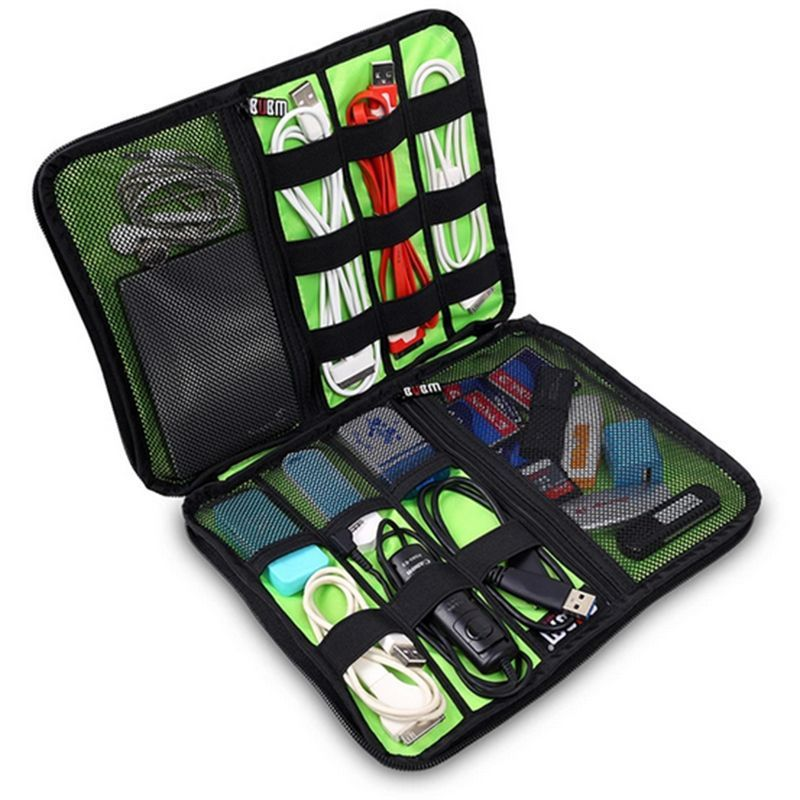 Fashion Organizer System Kit Case Storage Bag Digital Devices USB Data Cable Earphone Wire Pen Travel Insert Free Shipping(China (Mainland))