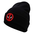 New Hot Selling Cotton Deadpool Winter Hat Embroidery Men And Women Hats Soft Solid Beanies Hip