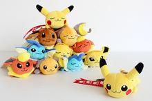 2016 Pokemon Plush Toy Peluche Pokemon Figures Keychain Pikachu Cotton Stuffed Pendant Children Toy Animals Dolls Brithday Gifts
