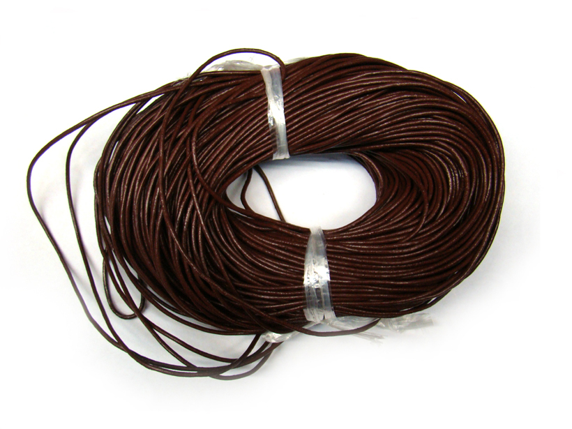 90m/Roll brown True cowhide Beading Cord 2mm dia. Beading Wire Handcraft Accessories for bracelet and necklace free shiping(China (Mainland))