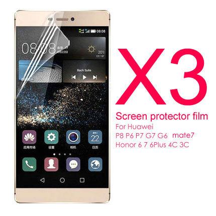 Гаджет  3 pcs/lot 0.4MM screen protector film for Huawei ascend P8 Lite P7 P6 mate 7 G7 G6 honor 6 honor 7 4C 3C 3X 4X phone case None Телефоны и Телекоммуникации
