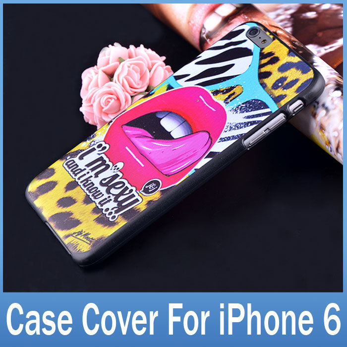 """Cute Painting Cover For iphone 6 Case 4.7"""" Protective Shell Durable Hard Back Cover Case For Apple iPhone 6 Cheap Phone Cases(China (Mainland))"""