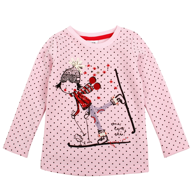 children clothes long sleeve o-neck sports girl balck dots girl t-shirt nova kids children clothes 2015 hot sale style <br><br>Aliexpress