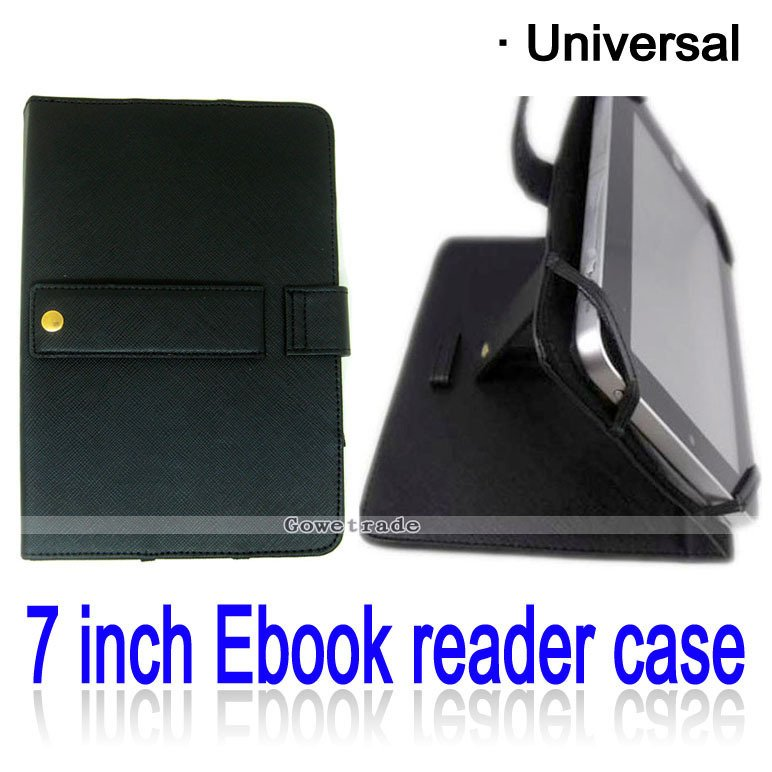Black 7 Inch Tablet PC Protective Skin Ebook Reader Leather Protector Case Cover(China (Mainland))