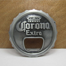 Fashion Corona Extra Beer Lager Bottle Opener Cap Mens Boys Metal Belt Buckle Birthday Gifts For Boyfriend 2 Colors in Stock(China (Mainland))