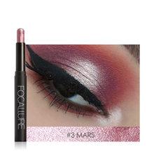 Focallure 12 cores lápis sombra longa duração à prova dwaterproof água sombras olho vara primer maquiagem dourado luminoso(China)