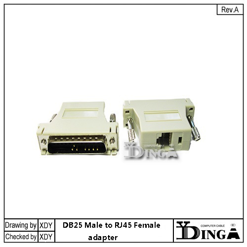 2016 freeshipping RS232 DB25 Male Adapter modem adapter DB25 to RJ45 adapter for cisco compatible converter adapter(China (Mainland))