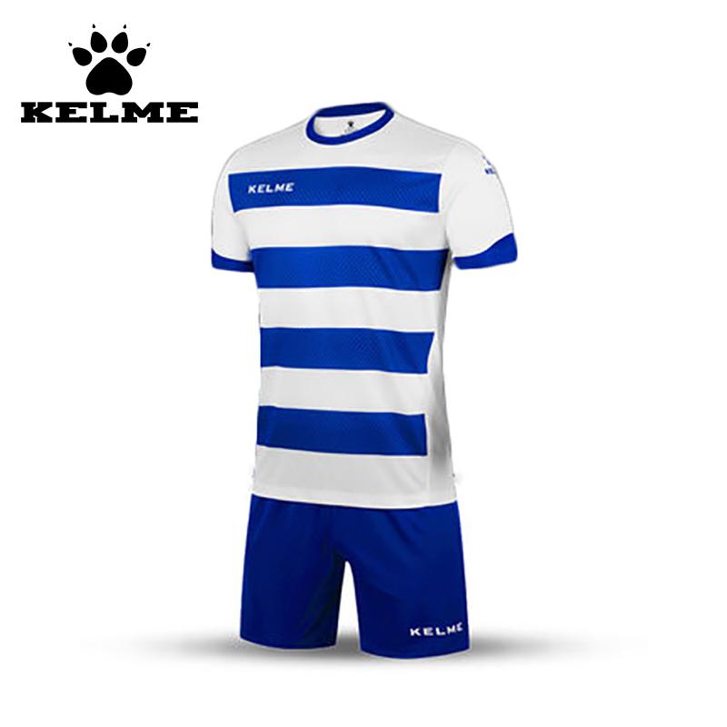 KELME Striped Soccer Jerseys Men Maillot de Foot 2016 2017 College Football Jerseys 2016 Training Soccer Maillot Custom Suit(China (Mainland))