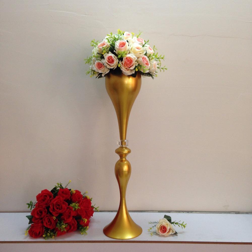 Height cm quot gold table flower vases golden