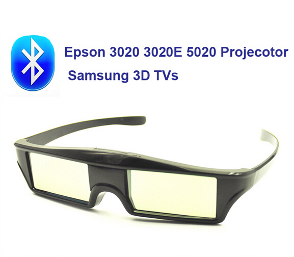 3D Glasses RF Bluetooth Active Shutter For Epson 3020 3020E 5020 Projecotor and Samsung 3D TVs Free Shipping!!(China (Mainland))