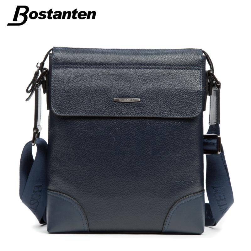 Bostanten New Famous Brand 2016 Casual Messenger Bag Men Leather Cow Genuine Bags Business High Quality Shoulder Bag Handbag(China (Mainland))