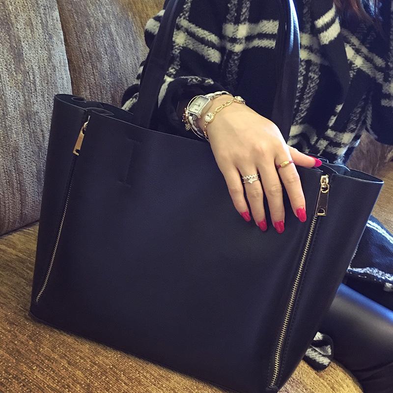 Double Zipper Famous Designers Fashion Women Bag Shopping Casual Tote Bag Female Picture Big Bag PU Leather Handbag 2016 Classic(China (Mainland))