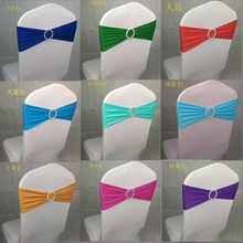 HOT SELL Wholesale 100pcs/lot Spandex Lycra Wedding Chair Cover Sash Bands Wedding Party Birthday Chair Decoration(China (Mainland))