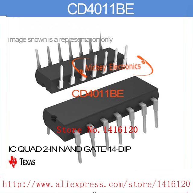 Cd4011be Ic Quad 2 In Nand Gate 14 Dip Cd4011be 4011