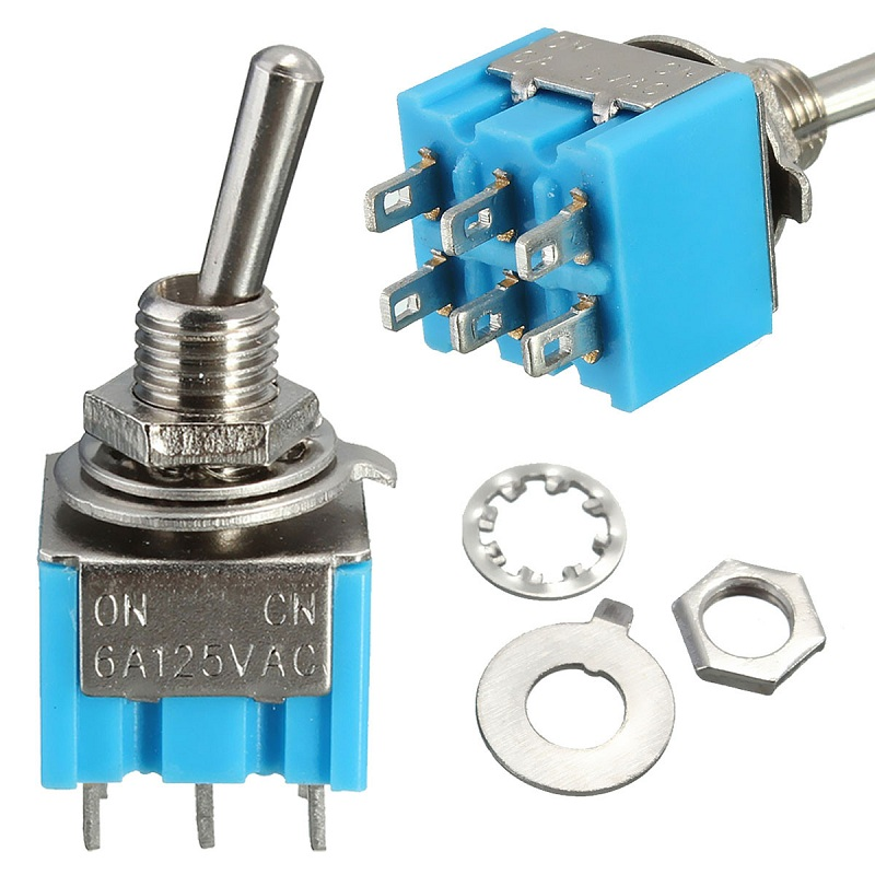 NEW Mini MTS-203 6-Pin SPDT ON-OFF-ON 6A 125VAC Toggle Switch Most Popular(China (Mainland))