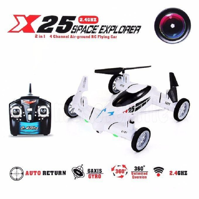 X25 8CH gyro Speed Switch 3D Flips Quadcopter Drone Car UFO RTF +Camera 2MP White Funny Toys(China (Mainland))