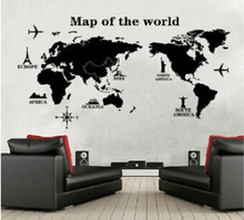 Buy DIY map world world map Wall sticker poster Wallpaper wall decals 9133 Living room bedroom office school classroom decor for $4.29 in AliExpress store