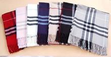Free shipping wholesale plaid classic scarf quality pashmina Shawl Stole men women unisex fashion muffler scarves 7 colors(China (Mainland))