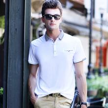 3XL Плюс Размер Дышащая мужская Polo Рубашки Белый С Коротким Рукавом мужские Poloes Рубашки 2016 Лето Высокое Качество Polo Homme Еды носить(China (Mainland))