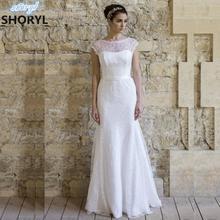 Buy Beach Lace Wedding Dress 2017 Long Scoop Neck Bridal Gown Wedding Dresses Boho Wedding Gown Vestido De Noiva Robe De Mariage for $151.88 in AliExpress store