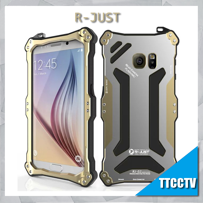 S6 Metal Phone Case For Samsung Galaxy S6 g9200 Case Cover Waterproof Shockproof With Gorilla Glass Aluminum Phone Housing