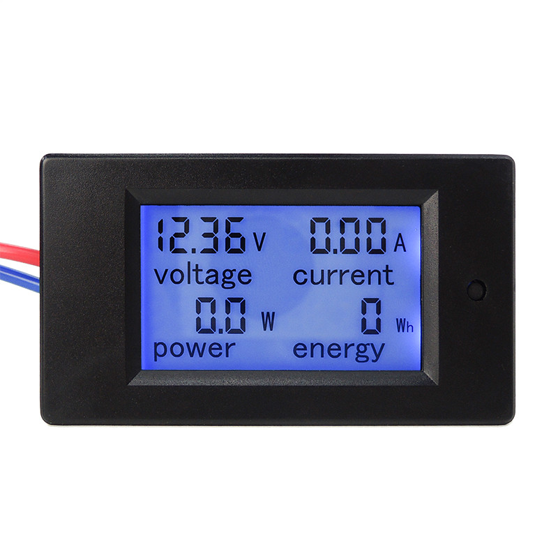 New DC 6.5-100V 0-50A LCD Display Digital Current Voltage Power Energy Meter Multimeter Ammeter Voltmeter with 50A Current Shunt