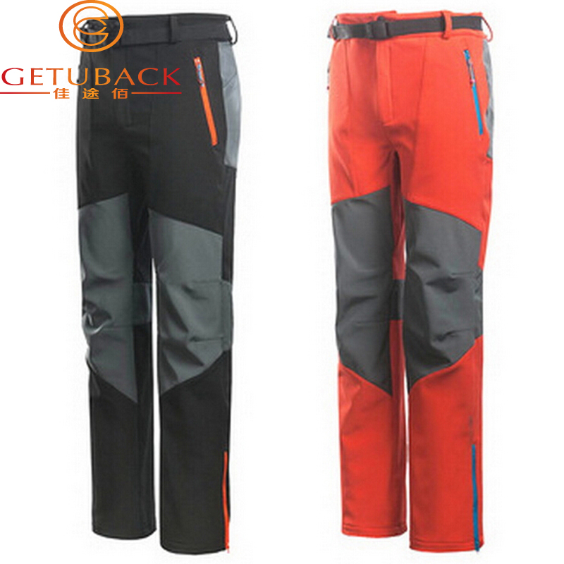 2015 New Brand Softshell hiking pants Outdoor Pants Men Ski trousers Waterproof Windproof Thermal For climbing Camping NA171