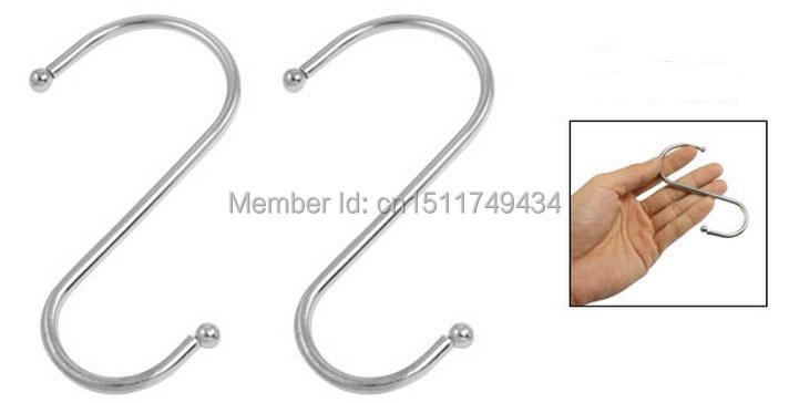10 Pcs Metal Ball Ends S Design Hanger Hooks 95mm for Clothing Baskets(China (Mainland))