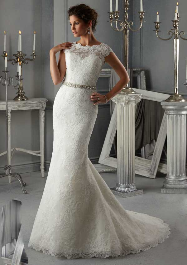 new hot selling vintage lace wedding dress bridal gown