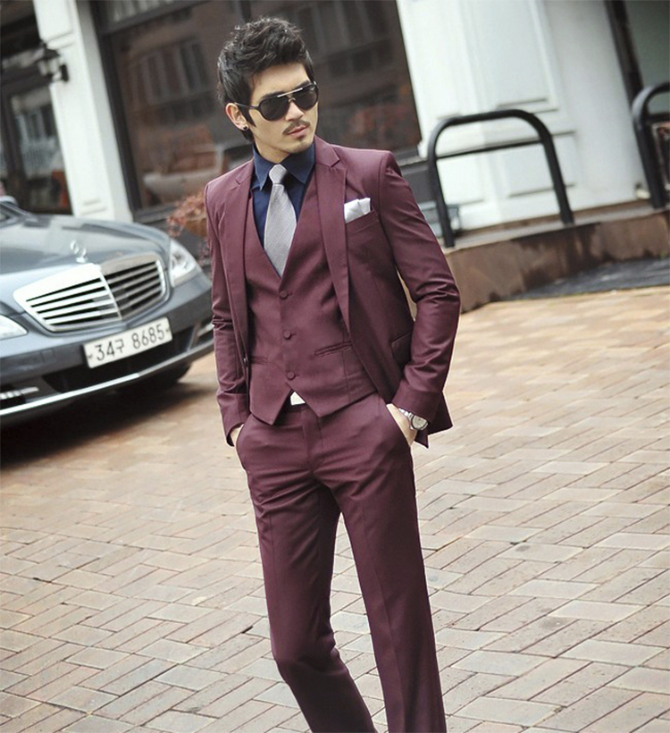 70-Free Shipping New 2015 man suit classic Fashion grooms man suits! Men's Blazer Business Slim Clothing Suit And Pants