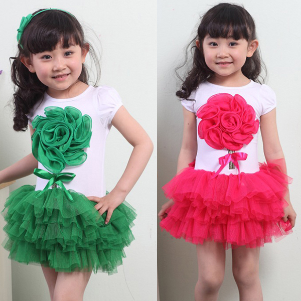 Kids Girls Cube Flower Tutu Dress One Piece Skirts Bowknot Summer Clothings 1-4Y  Free shipping &amp; Drop shipping<br><br>Aliexpress