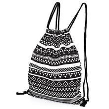 Boho Drawstring Casual Bag/Sports Sack Bag