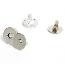 10 Sets/lot 14mm Silver Plated Handbag Leather Craft Clothes Magnetic Button Clasps Wallet Sewing Scrapbooking Snap Fastener(China (Mainland))