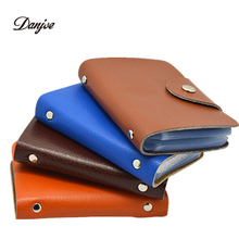 DANJUE Fashion Men card holder leather women credit card holders solid casual card case cowhide credit card bag(China (Mainland))