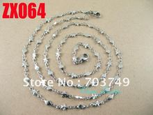 Wholesale  his-and-hers 316L stainless steel  star shape chain necklace bracelet set fashion men's women jewelry 10set ZX054(China (Mainland))