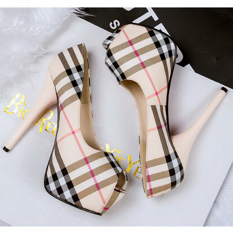 Brand New 2015 AikoShoes 626-2 High Heels microfiber women shoe peep toe sexy ladies stiletto female shoes Girl pumps red bottom
