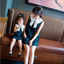 Matching Family Clothes Girls Dress Princess Womens Dresses 2016Winter Mother and Daughter Dresses Painting Family Clothing