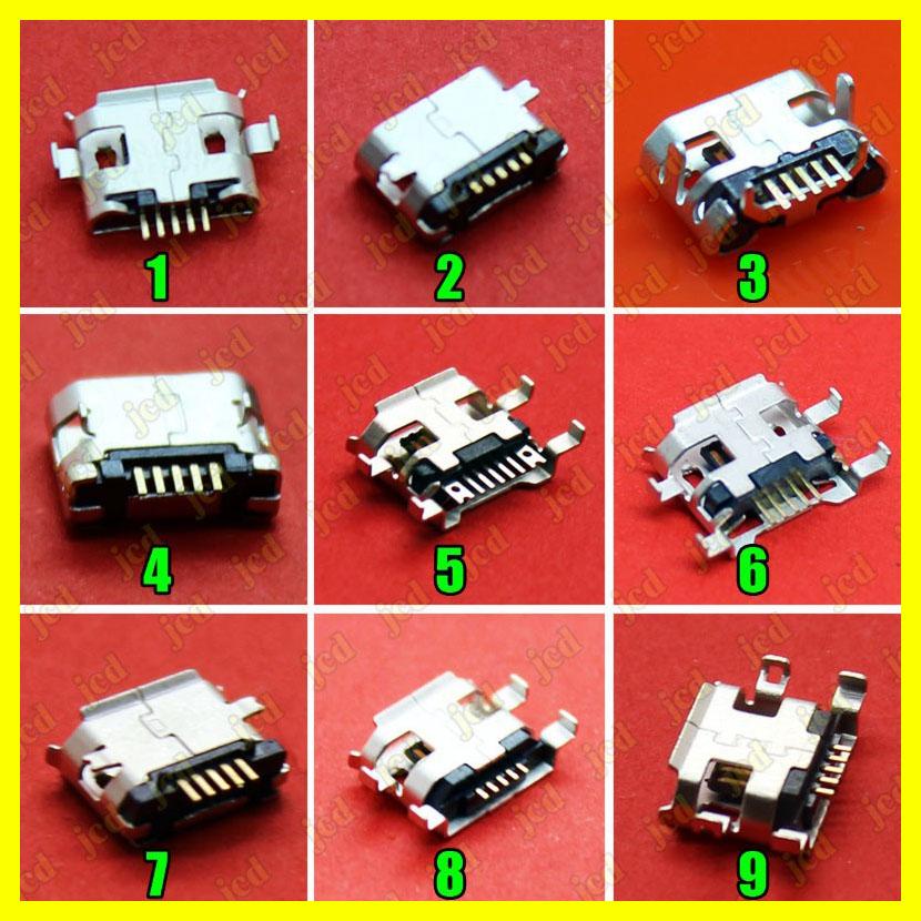 1x Hot!Commonest 9models Micro USB Jack 5P 5pins Mix SMD DIP V8 port charging data plug socket for phone tablet ect(China (Mainland))