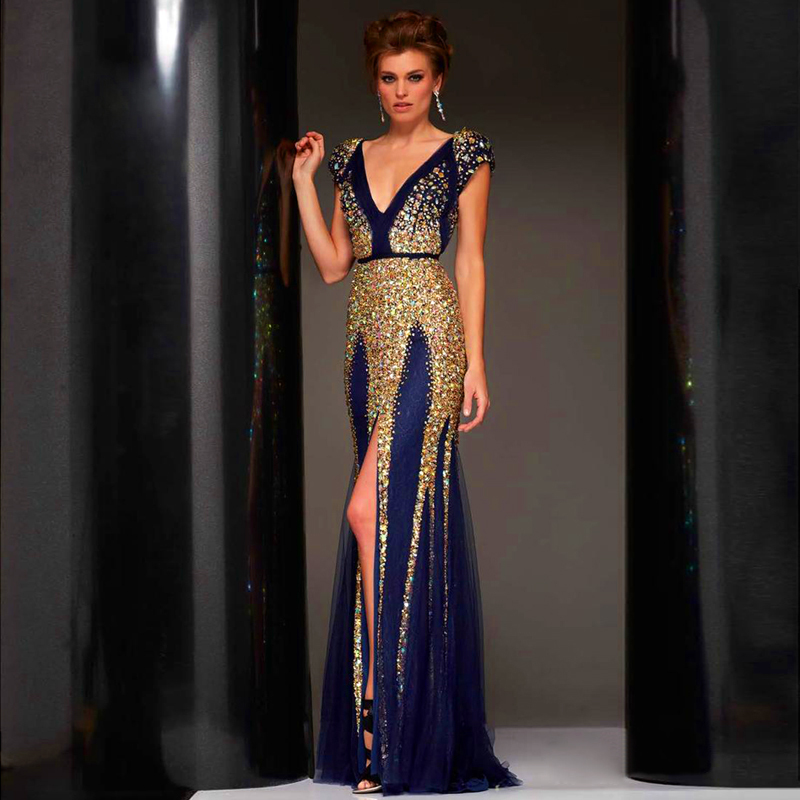 Crystal Evening Dresses - Boutique Prom Dresses