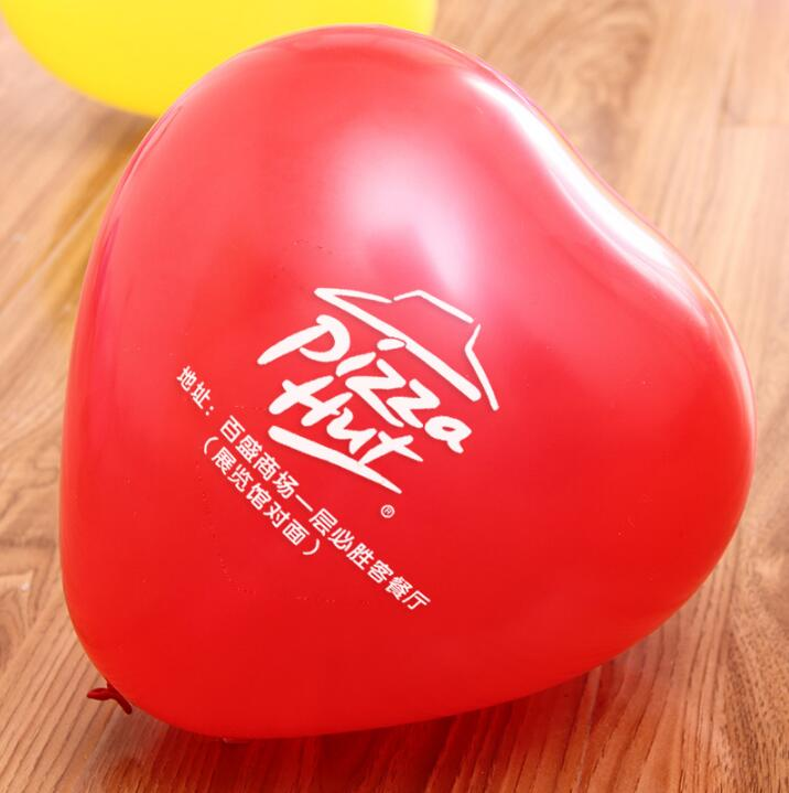 Здесь продается  500pcs 10 inch 2.2g/pc Heart Shape Customized Balloons Company LOGO Print Baloons Advertisement Balaos Promotional Gifts Balons  Игрушки и Хобби